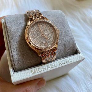 ⛔️SOLD⛔️MK Darci Diamond Gold-tone Watch